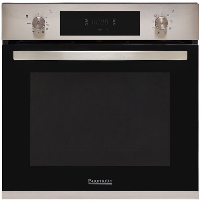 Baumatic BOMTU608X Built In Electric Single Oven - Stainless Steel - A+ Rated