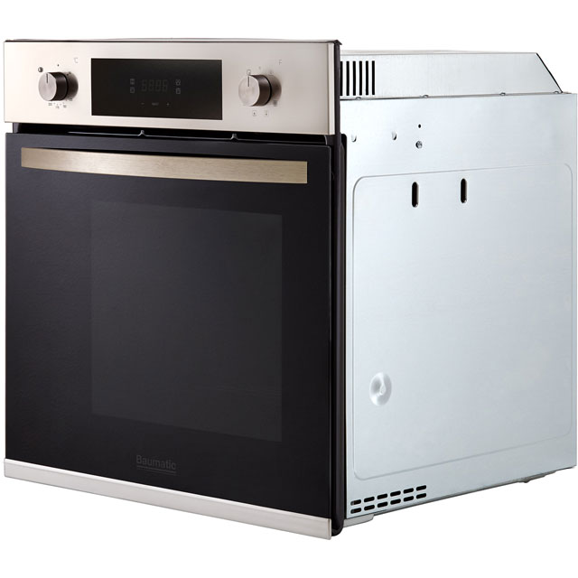 Baumatic BOMTU608X Built In Electric Single Oven - Stainless Steel - BOMTU608X_SS - 3