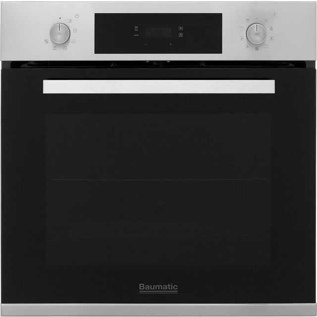 Baumatic BOPT609X Built In Electric Single Oven - Stainless Steel - A Rated - BOPT609X_SS - 1