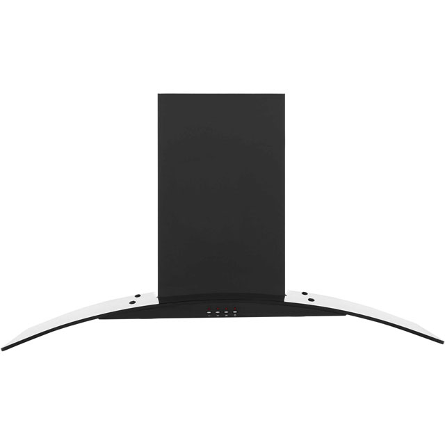 Baumatic BT10.3BGL 100 cm Chimney Cooker Hood - Black - E Rated