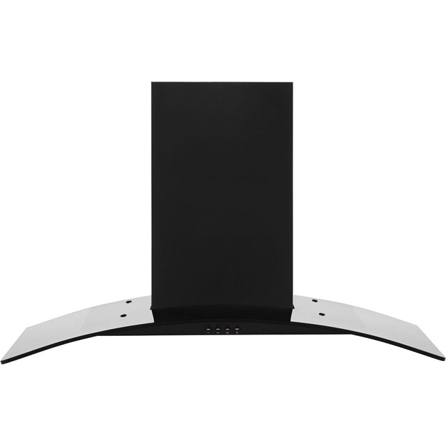 Baumatic 90 cm Chimney Cooker Hood - Black Glass - E Rated
