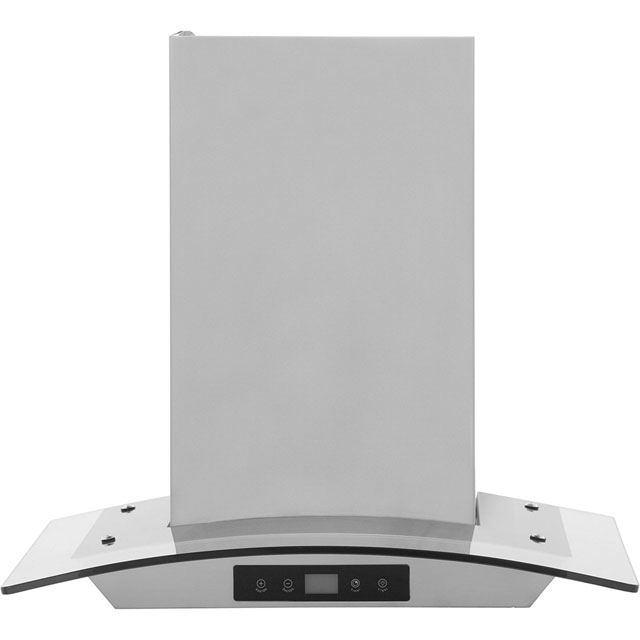Baumatic BTC6750GL 60 cm Chimney Cooker Hood - Stainless Steel / Glass - D Rated