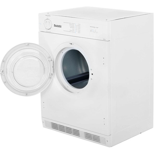 Baumatic BTD1 Built In 6Kg Vented Tumble Dryer - White - C Rated - BTD1 - 5