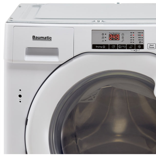 Baumatic BWDI1485D Integrated 8Kg / 5Kg Washer Dryer with 1400 rpm - BWDI1485D_WH - 3