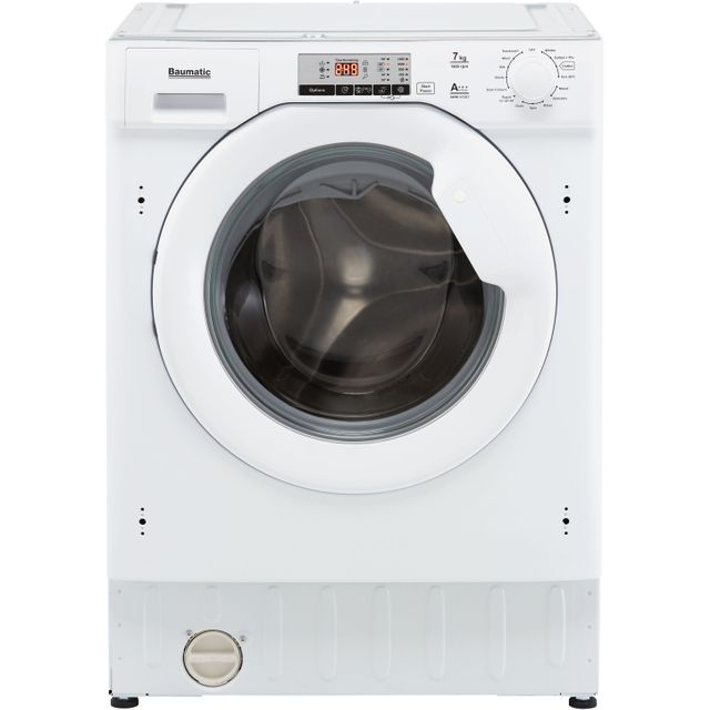 Baumatic BWMI1472D3/1 Integrated 7Kg Washing Machine with 1400 rpm - White - A+++ Rated