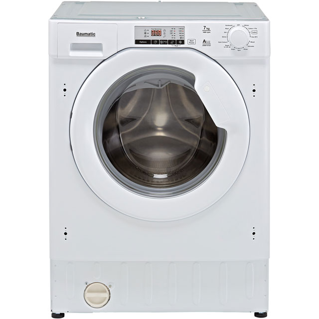 Baumatic BWMI1472D3/1 Built In 7Kg Washing Machine - White - BWMI1472D3/1_WH - 1
