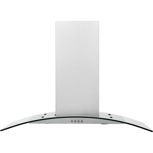 baumatic isl5ss 90 cm integrated cooker hood stainless steel glass