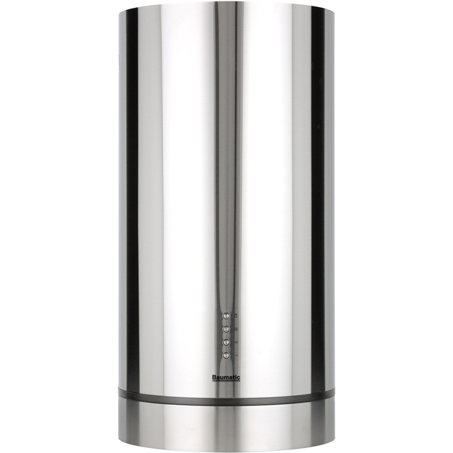 Baumatic 35 cm Island Cooker Hood - Stainless Steel - D Rated