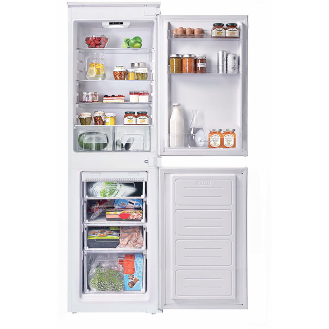 Candy BCBF50NUK Integrated 50/50 Frost Free Fridge Freezer with Sliding Door Fixing Kit - White - A+ Rated
