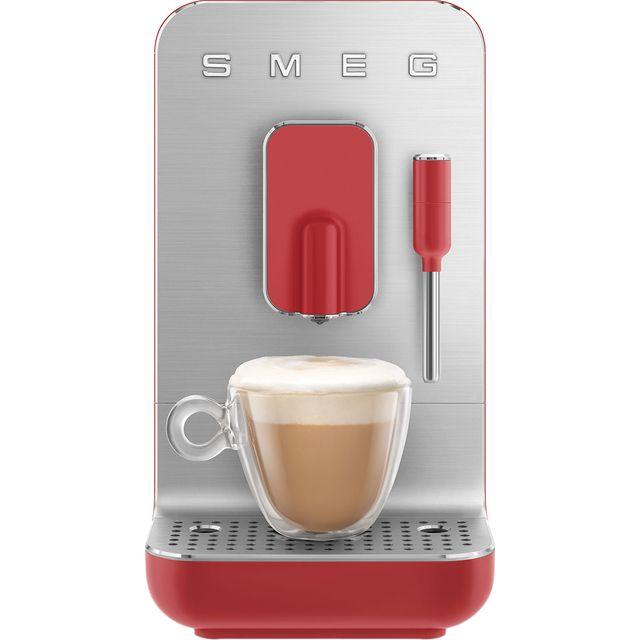 Smeg 50s Retro BCC02RDMUK Bean to Cup Coffee Machine - Red