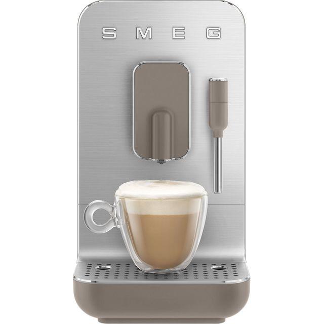 Smeg 50s Retro BCC02TPMUK Bean to Cup Coffee Machine - Taupe