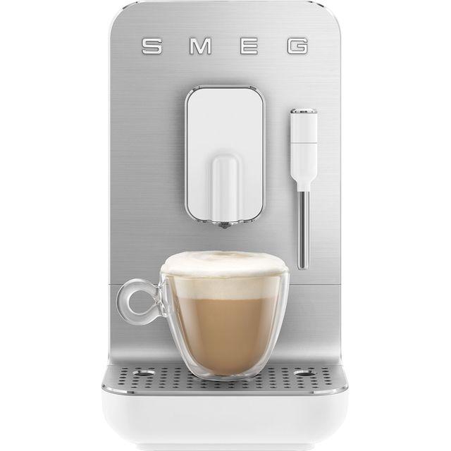 Smeg 50s Retro BCC02WHMUK Bean to Cup Coffee Machine - White