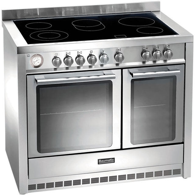 Baumatic BCE1025SS 100cm Electric Range Cooker with Ceramic Hob - Stainless Steel - A Rated