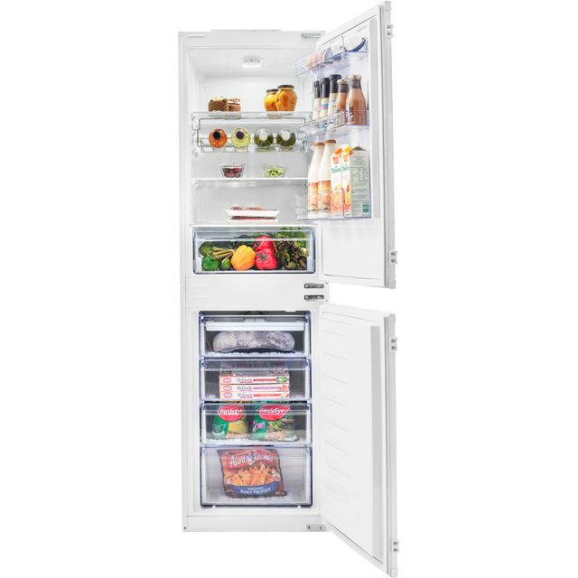 Beko BCFD350 Built In Fridge Freezer - White - BCFD350_WH - 1