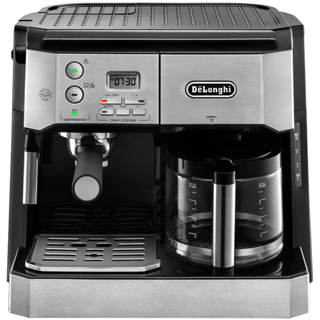 De'Longhi Combi Espress-Filter Coffee BCO431.S Espresso Coffee Machine - Black / Silver