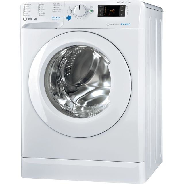 Indesit BDE1071682XWUKN 10Kg / 7Kg Washer Dryer with 1600 rpm - White - BDE1071682XWUKN_WH - 1