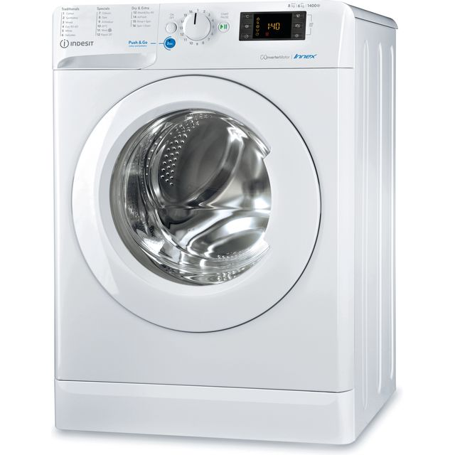 Indesit BDE861483XWUKN 8Kg / 6Kg Washer Dryer with 1400 rpm - White - BDE861483XWUKN_WH - 1
