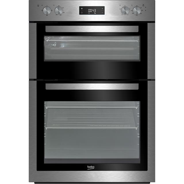 Beko BDF26300X Built In Electric Double Oven - Stainless Steel - BDF26300X_SS - 1