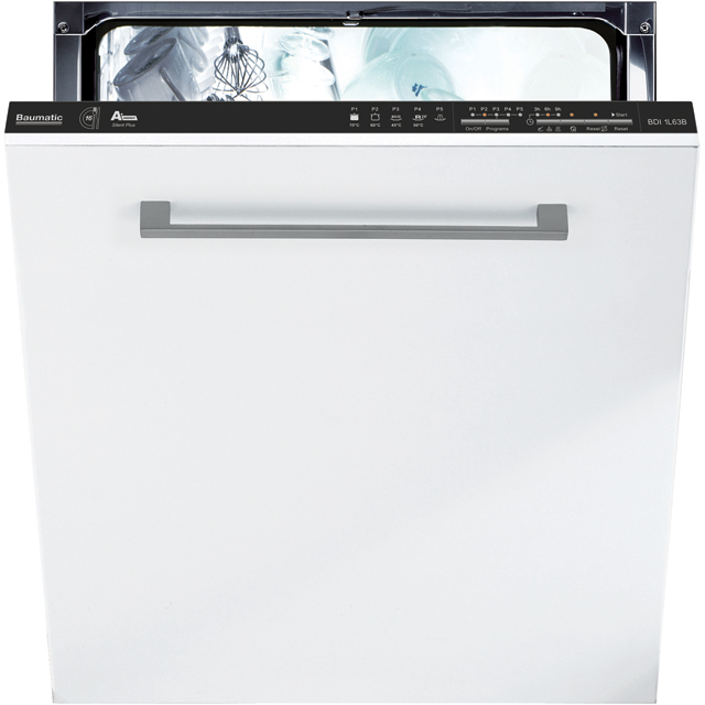 Baumatic BDI1L63B Fully Integrated Standard Dishwasher - Black Control Panel with Fixed Door Fixing Kit - A+ Rated - BDI1L63B_BK - 1