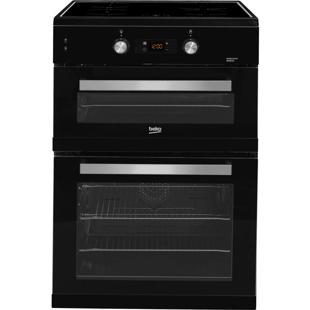 Beko BDI6C55K 60cm Electric Cooker with Induction Hob - Black - A/A Rated Best Price, Cheapest Prices