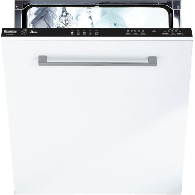 Baumatic BDIN1L38B-80 Fully Integrated Standard Dishwasher - Black Control Panel - A+ Rated