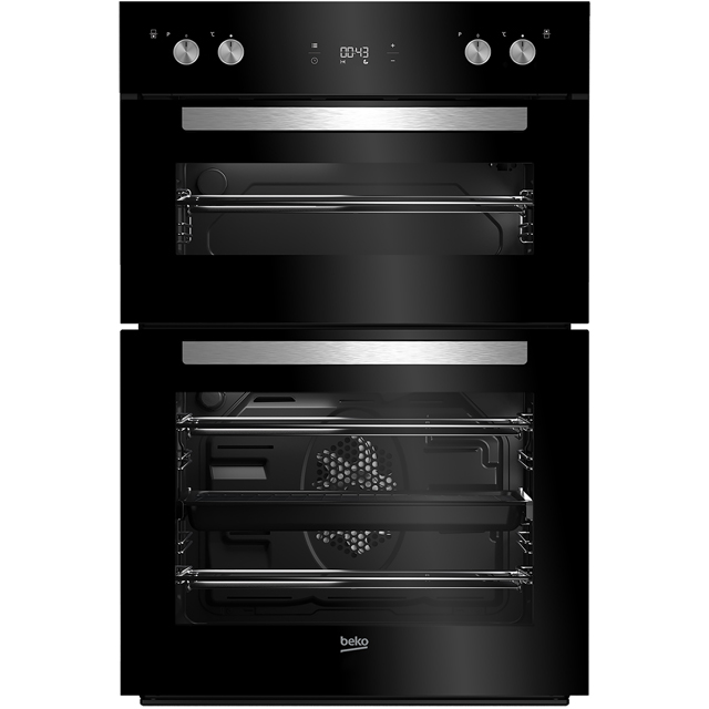 Beko BDM243BOC Built In Double Oven - Black - A/A Rated - BDM243BOC_BK - 1