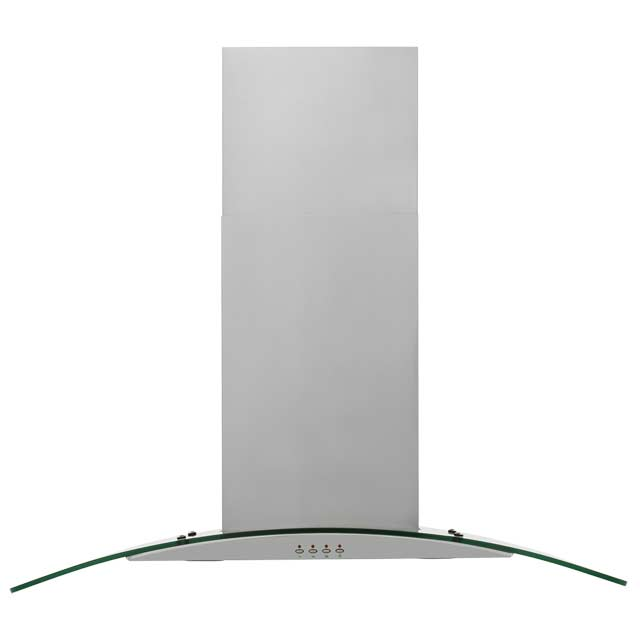 Baumatic 60 cm Chimney Cooker Hood - Stainless Steel / Glass - E Rated