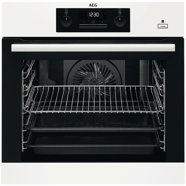 AEG Mastery BEB351010W Built In Electric Single Oven with added Steam Function - White - A Rated - BEB351010W_WH - 1