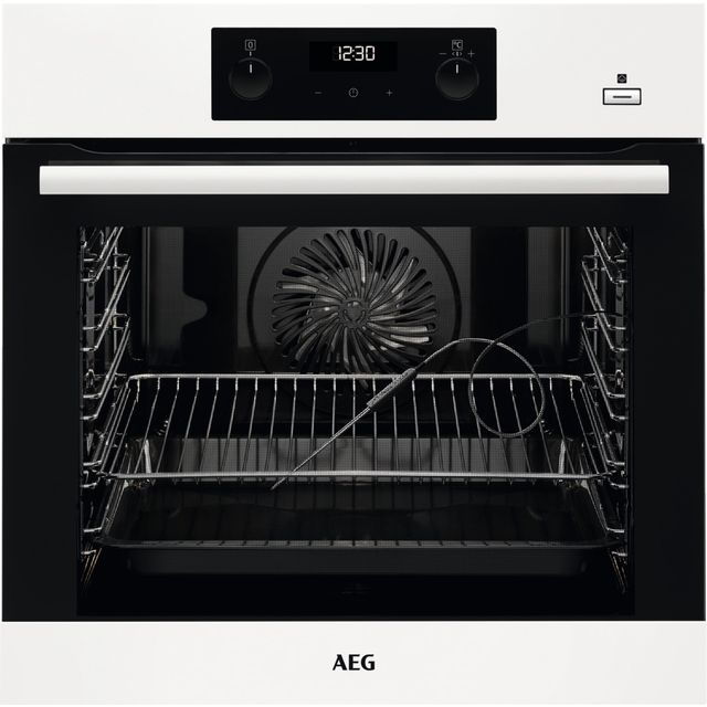 AEG BEB355020W Built In Electric Single Oven with added Steam Function - White - A+ Rated