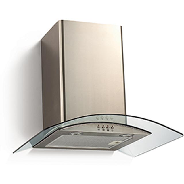 Baumatic BECH60GL 60 cm Chimney Cooker Hood - Stainless Steel / Glass - C Rated - BECH60GL_SSG - 1