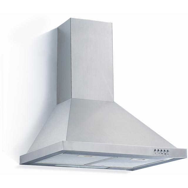 Baumatic BECH60X 60 cm Chimney Cooker Hood - Stainless Steel - C Rated - BECH60X_SS - 1