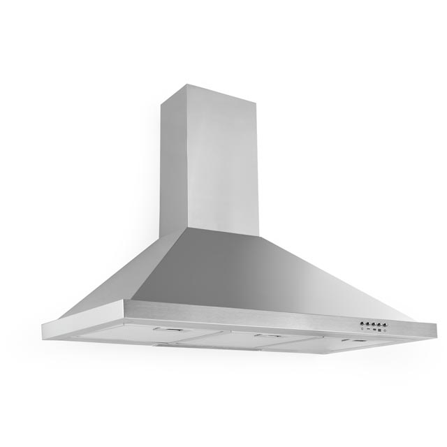 Baumatic 90 cm Chimney Cooker Hood - Stainless Steel - C Rated