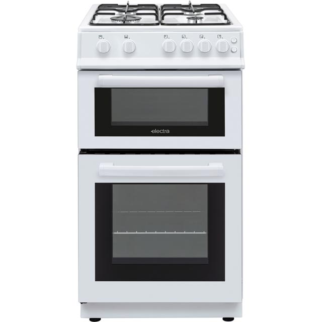Electra BEF50TGW 50cm Gas Cooker with Gas Grill - White - A Rated - BEF50TGW_WH - 1
