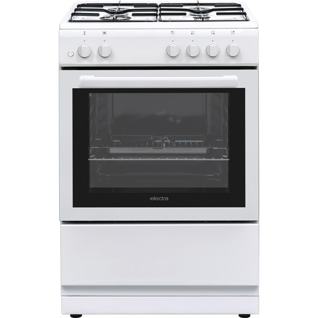 Electra BEF60SGW 60cm Gas Cooker - White - A Rated - BEF60SGW_WH - 1