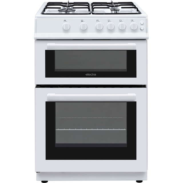 Electra BEF60TGW 60cm Gas Cooker with Gas Grill - White - A Rated - BEF60TGW_WH - 1