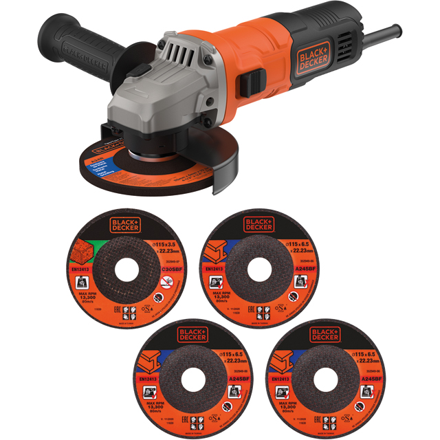 Black + Decker BEG010A5-GB Grinder - Black / Orange - BEG010A5-GB_BKOR - 1