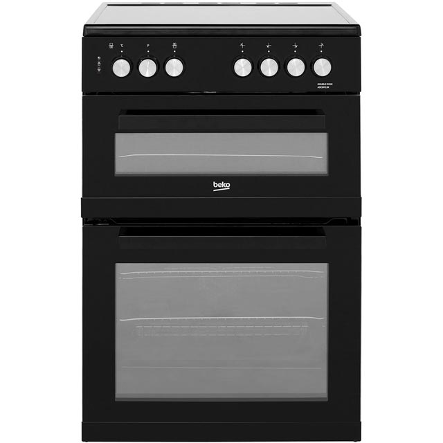 Beko ADC6M13K 60cm Electric Cooker with Ceramic Hob - Black - A/A Rated