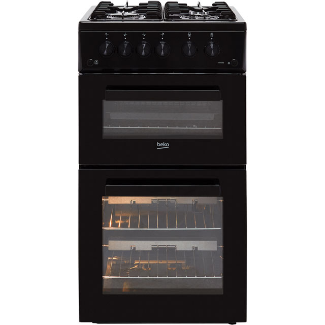 Beko ADVG592K 50cm Gas Cooker with Full Width Gas Grill - Black - A+/A Rated - ADVG592K_BK - 1