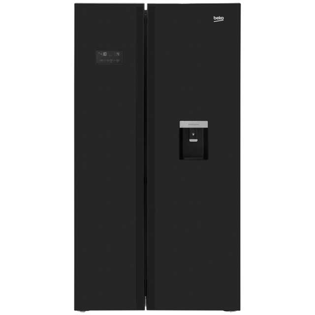 Beko ASDL251B American Fridge Freezer - Black - ASDL251B_BK - 1