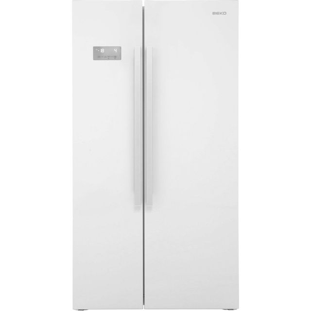 Beko ASL141W American Fridge Freezer - Gloss White - A+ Rated Best Price, Cheapest Prices