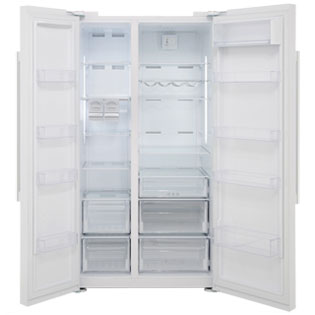 Beko ASL141W American Fridge Freezer - Gloss White - ASL141W_WH - 4