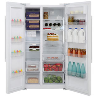 Beko ASL141W American Fridge Freezer - Gloss White - ASL141W_WH - 5