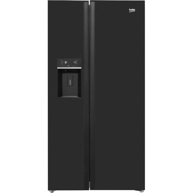 American Fridge Freezer Part - 23: Beko ASNL551B American Fridge Freezer - Black