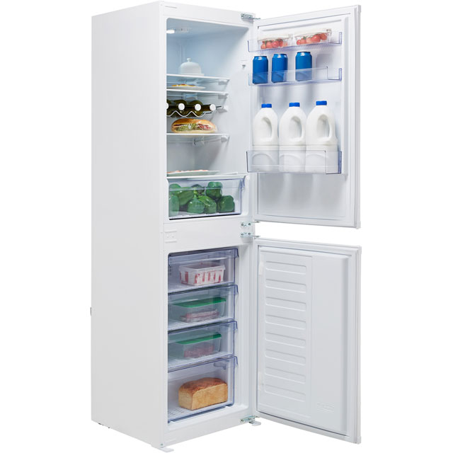Beko BCFD150 Integrated 50/50 Frost Free Fridge Freezer with Sliding Door Fixing Kit - White - A+ Rated Best Price, Cheapest Prices