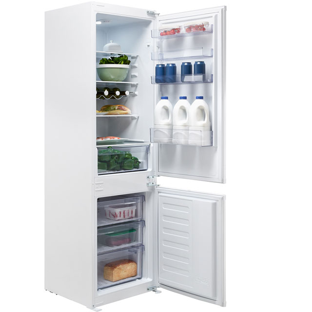 Beko BCFD173 Integrated 70/30 Frost Free Fridge Freezer with Sliding Door Fixing Kit - White - A+ Rated - BCFD173_WH - 1