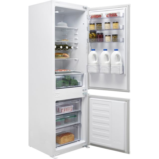Beko BCFD373 Integrated 70/30 Frost Free Fridge Freezer with Sliding Door Fixing Kit - White - F Rated - BCFD373_WH - 1