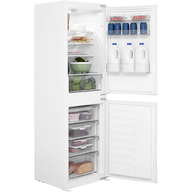 Beko BCSD150 Integrated 50/50 Fridge Freezer with Sliding Door Fixing Kit - White - A+ Rated Best Price, Cheapest Prices