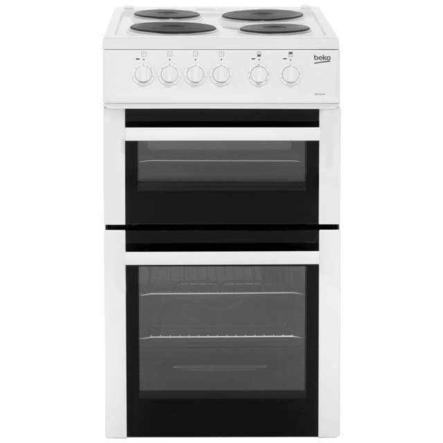 Beko BD532AW Electric Cooker with Solid Plate Hob - White Best Price, Cheapest Prices