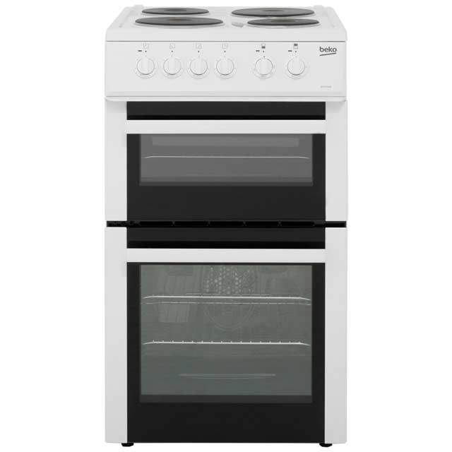 Beko BD533AW Electric Cooker with Solid Plate Hob - White