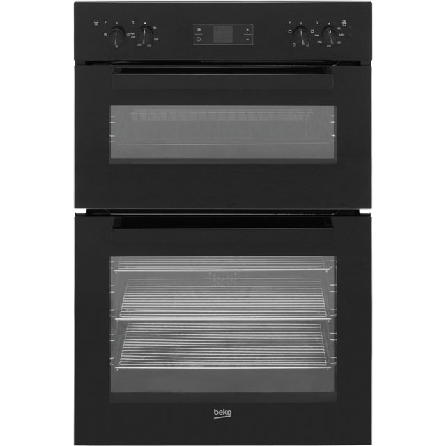 Beko BDF22300B Built In Double Oven - Black - BDF22300B_BK - 1